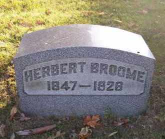 BROOME, HERBERT - Columbiana County, Ohio | HERBERT BROOME - Ohio Gravestone Photos