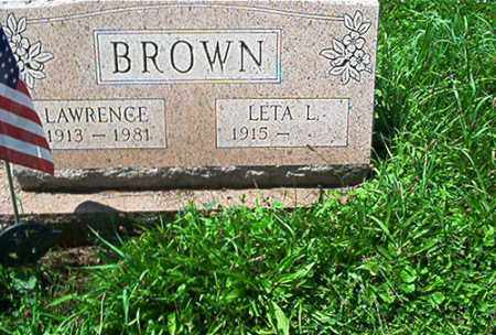 BROWN, LAWRENCE - Columbiana County, Ohio | LAWRENCE BROWN - Ohio Gravestone Photos