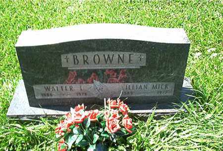 BROWNE, LILLIAN MICK - Columbiana County, Ohio | LILLIAN MICK BROWNE - Ohio Gravestone Photos