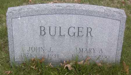 BULGER, JOHN J. - Columbiana County, Ohio | JOHN J. BULGER - Ohio Gravestone Photos