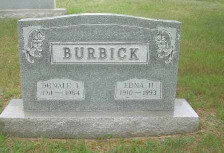 BURBICK, EDNA H - Columbiana County, Ohio | EDNA H BURBICK - Ohio Gravestone Photos