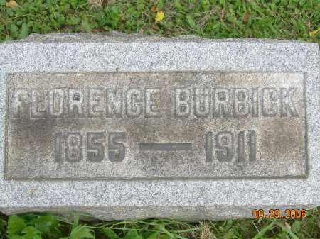 BURBICK, FLORENCE - Columbiana County, Ohio | FLORENCE BURBICK - Ohio Gravestone Photos