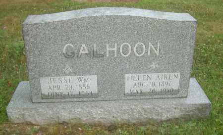 CALHOON, JESSE WILLIAM - Columbiana County, Ohio | JESSE WILLIAM CALHOON - Ohio Gravestone Photos