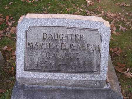 CALIEBE, MARTHA ELISABETH - Columbiana County, Ohio | MARTHA ELISABETH CALIEBE - Ohio Gravestone Photos