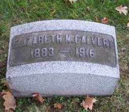 CALVERT, ELIZABETH N. - Columbiana County, Ohio | ELIZABETH N. CALVERT - Ohio Gravestone Photos