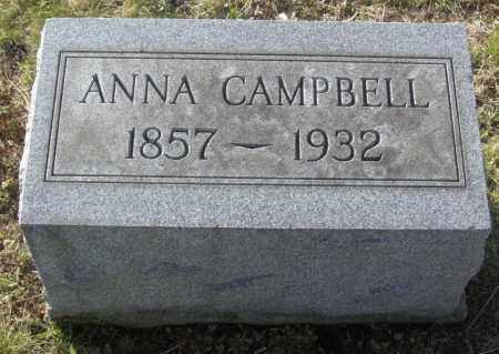 CAMPBELL, ANNA - Columbiana County, Ohio | ANNA CAMPBELL - Ohio Gravestone Photos