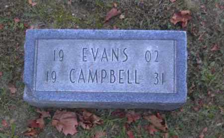 CAMPBELL, EVANS - Columbiana County, Ohio | EVANS CAMPBELL - Ohio Gravestone Photos