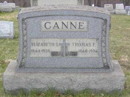 CANNE, THOMAS F. - Columbiana County, Ohio | THOMAS F. CANNE - Ohio Gravestone Photos