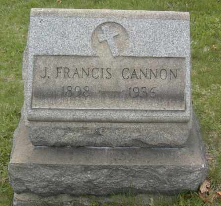 CANNON, J. FRANCIS - Columbiana County, Ohio | J. FRANCIS CANNON - Ohio Gravestone Photos