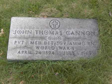 CANNON, JOHN THOMAS - Columbiana County, Ohio | JOHN THOMAS CANNON - Ohio Gravestone Photos
