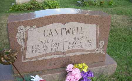 CANTWELL, PAUL D - Columbiana County, Ohio | PAUL D CANTWELL - Ohio Gravestone Photos