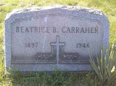 CARRAHER, BEATRICE B. - Columbiana County, Ohio | BEATRICE B. CARRAHER - Ohio Gravestone Photos