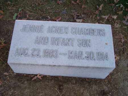 AGNEW CHAMBERS, JENNIE - Columbiana County, Ohio | JENNIE AGNEW CHAMBERS - Ohio Gravestone Photos