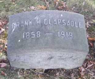 CLAPSADLE, FRANK H. - Columbiana County, Ohio | FRANK H. CLAPSADLE - Ohio Gravestone Photos