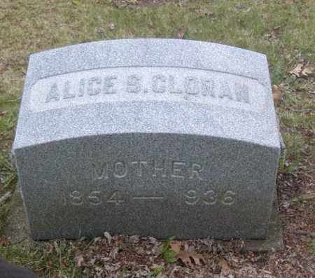 CLORAN, ALICE S. - Columbiana County, Ohio | ALICE S. CLORAN - Ohio Gravestone Photos