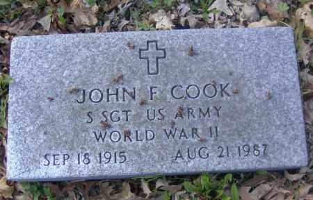 COOK, JOHN F. - Columbiana County, Ohio | JOHN F. COOK - Ohio Gravestone Photos