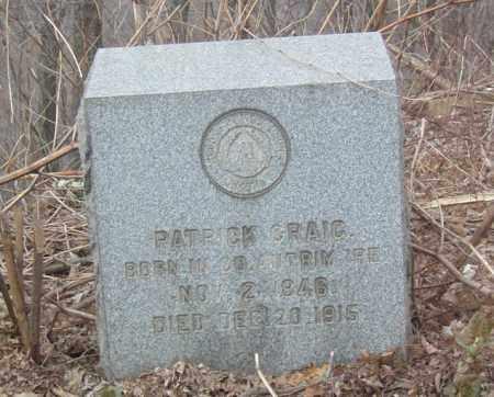 CRAIG, PATRICK - Columbiana County, Ohio | PATRICK CRAIG - Ohio Gravestone Photos