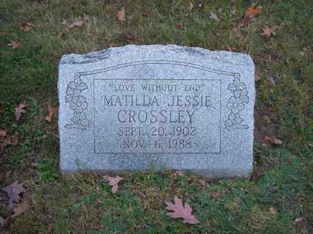 CROSSLEY, MATILDA JESSIE - Columbiana County, Ohio | MATILDA JESSIE CROSSLEY - Ohio Gravestone Photos