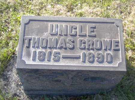 CROWE, THOMAS - Columbiana County, Ohio | THOMAS CROWE - Ohio Gravestone Photos
