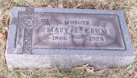 CRUM, MARY E. - Columbiana County, Ohio | MARY E. CRUM - Ohio Gravestone Photos