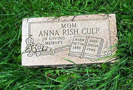 RISH CULP, ANNA - Columbiana County, Ohio | ANNA RISH CULP - Ohio Gravestone Photos