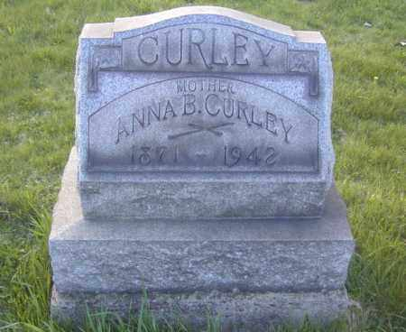 CURLEY, ANNA B. - Columbiana County, Ohio | ANNA B. CURLEY - Ohio Gravestone Photos