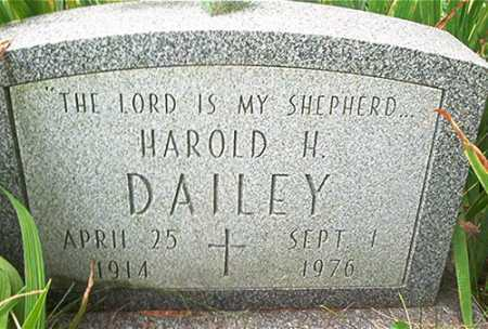 DAILEY, HAROLD H. - Columbiana County, Ohio | HAROLD H. DAILEY - Ohio Gravestone Photos