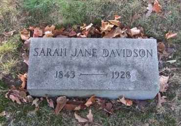 DAVIDSON, SARAH JANE - Columbiana County, Ohio | SARAH JANE DAVIDSON - Ohio Gravestone Photos