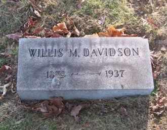 DAVIDSON, WILLIS M. - Columbiana County, Ohio | WILLIS M. DAVIDSON - Ohio Gravestone Photos