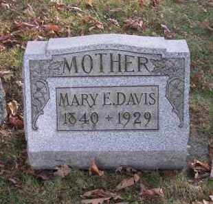 DAVIS, MARY E. - Columbiana County, Ohio | MARY E. DAVIS - Ohio Gravestone Photos