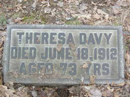 DAVY, THERESA - Columbiana County, Ohio | THERESA DAVY - Ohio Gravestone Photos