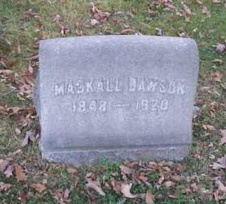 DAWSON, MACKALL - Columbiana County, Ohio | MACKALL DAWSON - Ohio Gravestone Photos