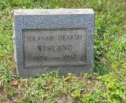 WINLAND DEARTH, HANNAH - Columbiana County, Ohio | HANNAH WINLAND DEARTH - Ohio Gravestone Photos
