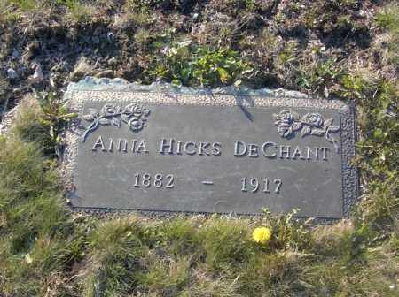 DECHANT, ANNA HICKS - Columbiana County, Ohio | ANNA HICKS DECHANT - Ohio Gravestone Photos
