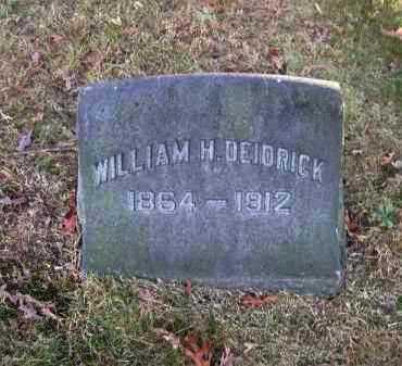 DEIDRICK, WILLIAM H. - Columbiana County, Ohio | WILLIAM H. DEIDRICK - Ohio Gravestone Photos
