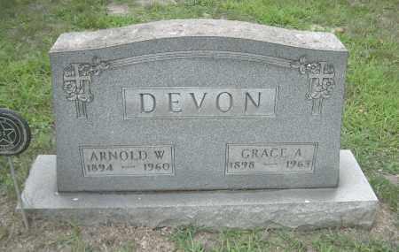 DEVON, GRACE A - Columbiana County, Ohio | GRACE A DEVON - Ohio Gravestone Photos