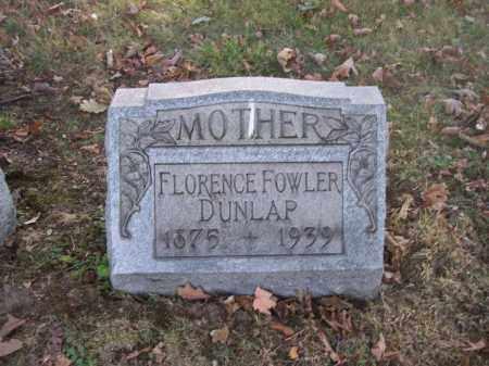 FOWLER DUNLAP, FLORENCE - Columbiana County, Ohio | FLORENCE FOWLER DUNLAP - Ohio Gravestone Photos