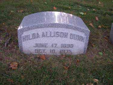 ALLISON DUNN, HILDA - Columbiana County, Ohio | HILDA ALLISON DUNN - Ohio Gravestone Photos