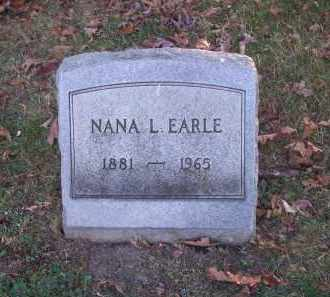 EARLE, NANA L. - Columbiana County, Ohio | NANA L. EARLE - Ohio Gravestone Photos