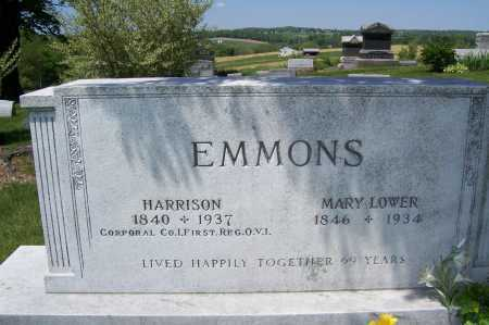 EMMONS, MARY - Columbiana County, Ohio | MARY EMMONS - Ohio Gravestone Photos