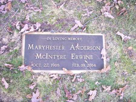 ERWINE, MARYHESTER - Columbiana County, Ohio | MARYHESTER ERWINE - Ohio Gravestone Photos