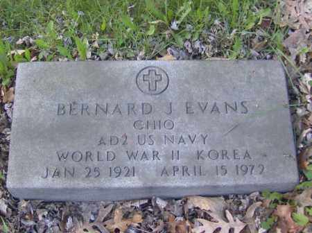 EVANS, BERNARD J. - Columbiana County, Ohio | BERNARD J. EVANS - Ohio Gravestone Photos