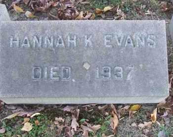 EVANS, HANNAH K. - Columbiana County, Ohio | HANNAH K. EVANS - Ohio Gravestone Photos