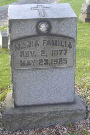 FAMILIA, MARIA - Columbiana County, Ohio | MARIA FAMILIA - Ohio Gravestone Photos