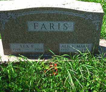 FARIS, LEX P. - Columbiana County, Ohio | LEX P. FARIS - Ohio Gravestone Photos