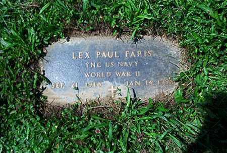 FARIS, LEX PAUL - Columbiana County, Ohio | LEX PAUL FARIS - Ohio Gravestone Photos