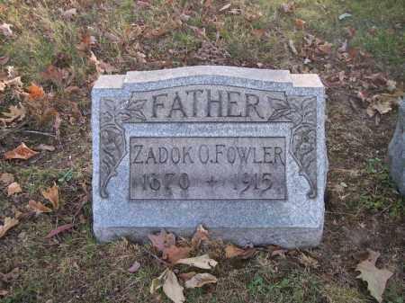 FOWLER, ZADOK O. - Columbiana County, Ohio | ZADOK O. FOWLER - Ohio Gravestone Photos