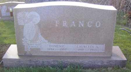 FRANCO, LAURETTA K. - Columbiana County, Ohio | LAURETTA K. FRANCO - Ohio Gravestone Photos