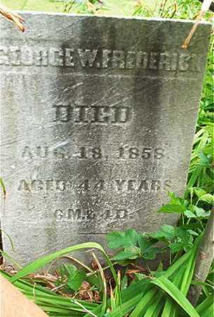 FREDERICK, GEORGE W. - Columbiana County, Ohio | GEORGE W. FREDERICK - Ohio Gravestone Photos