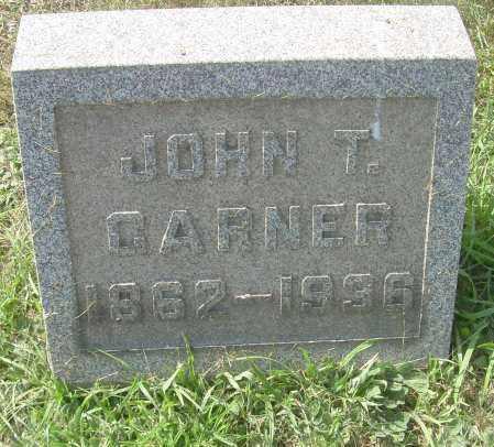 GARNER, JOHN T - Columbiana County, Ohio | JOHN T GARNER - Ohio Gravestone Photos